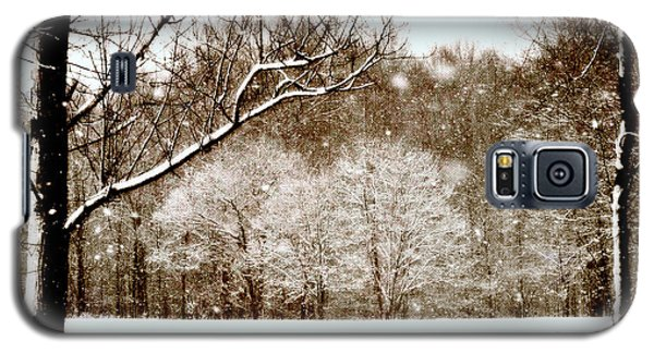 Sepia Ohio Winter Galaxy S5 Case by Lila Fisher-Wenzel