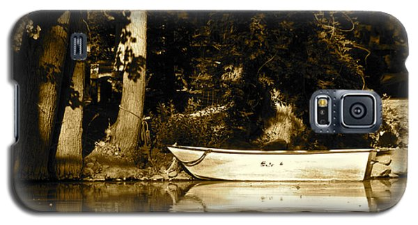 Sepia Rowboat Galaxy S5 Case by Vinnie Oakes