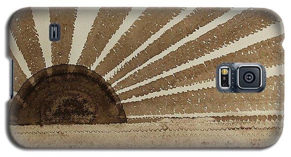 Sepia Sunset Original Painting Galaxy S5 Case