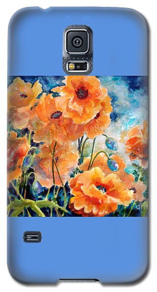September Orange Poppies            Galaxy S5 Case by Kathy Braud