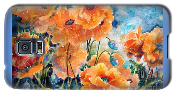 September Orange Poppies            Galaxy S5 Case