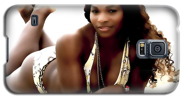Serena Williams In The Sand Galaxy S5 Case by Brian Reaves