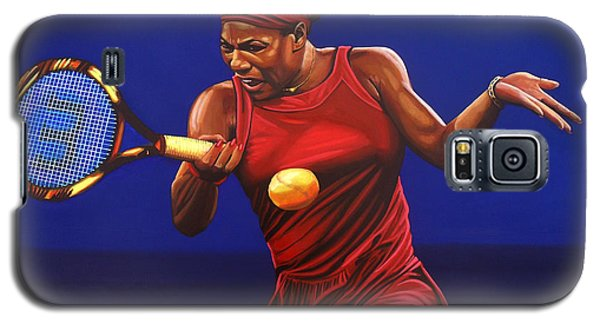 Serena Williams Galaxy S5 Case - Serena Williams Painting by Paul Meijering