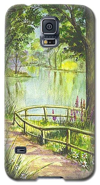 Galaxy S5 Case featuring the painting Serendipity Stroll by Carol Wisniewski