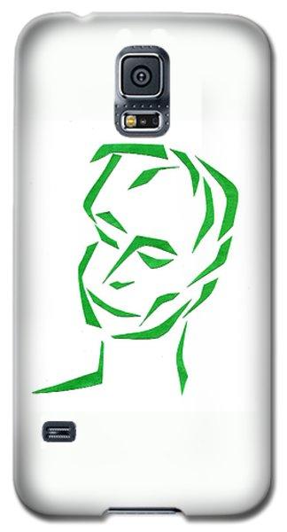 Serene Face Galaxy S5 Case by Delin Colon