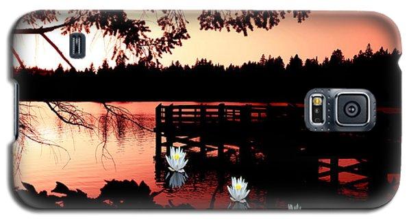 Serene Scene At Lake Ballinger Galaxy S5 Case