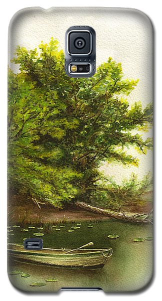Galaxy S5 Case featuring the painting Serene Solitude by Nan Wright