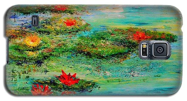 Galaxy S5 Case featuring the painting Serene by Teresa Wegrzyn