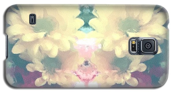 Galaxy S5 Case featuring the photograph Serene Zinnias by Luther Fine Art