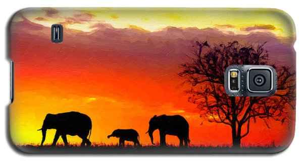 Serengeti Silhouette Galaxy S5 Case