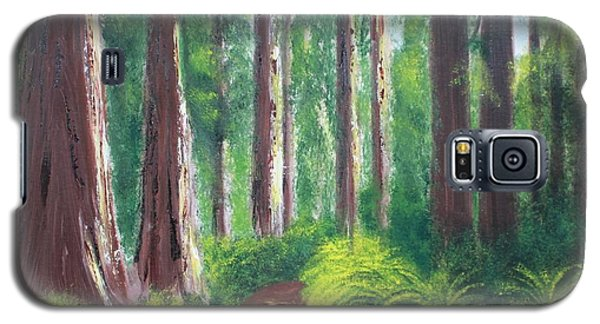 Galaxy S5 Case featuring the painting Serenity Forest by Bev Conover