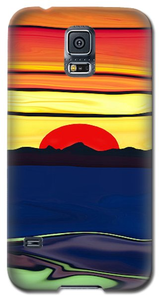 Serenity Lake Sunset Galaxy S5 Case by Haleh Mahbod