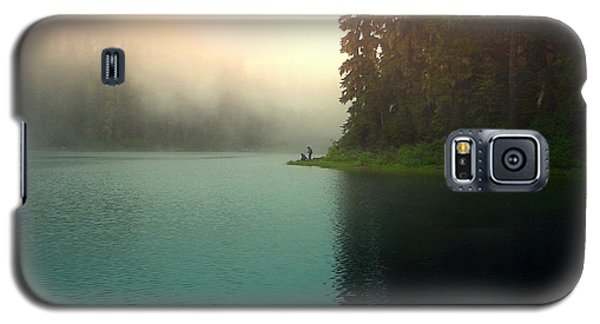Serenity On Blue Lake Foggy Afternoon Galaxy S5 Case
