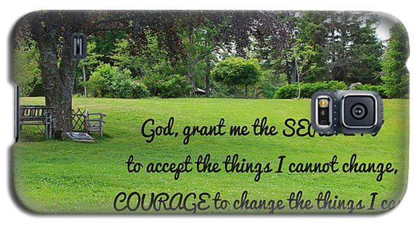 Serenity Prayer And Park Bench Galaxy S5 Case