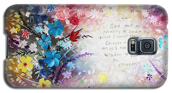 Galaxy S5 Case featuring the painting Serenity Prayer by Patricia Lintner