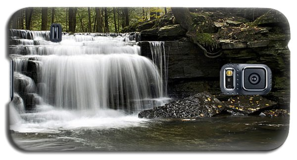 Galaxy S5 Case featuring the photograph Serenity Waterfalls Landscape by Christina Rollo