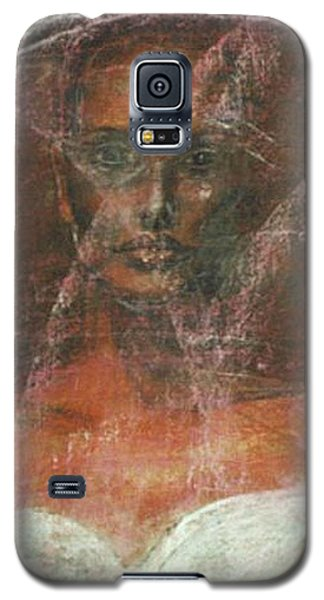 Galaxy S5 Case featuring the painting Serious Bride Mirage  by Jarmo Korhonen aka Jarko