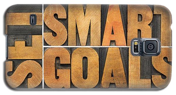 Set Smart Goals In Wood Type Galaxy S5 Case