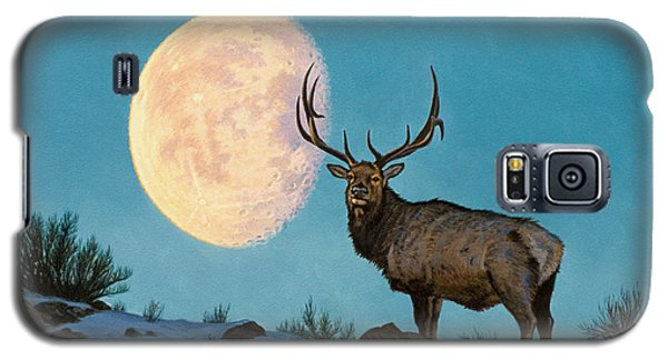 Bull Galaxy S5 Case - Setting Moon And Elk by Paul Krapf