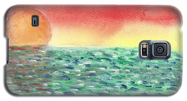 Galaxy S5 Case featuring the painting Setting Sea by John Williams