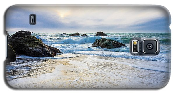 Setting Sun And Rising Tide Galaxy S5 Case by CML Brown