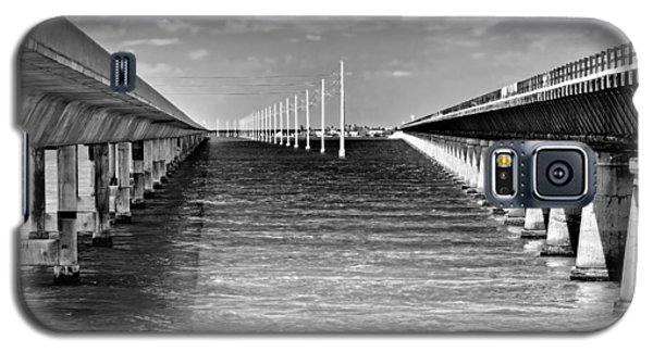seven mile bridge BW Galaxy S5 Case
