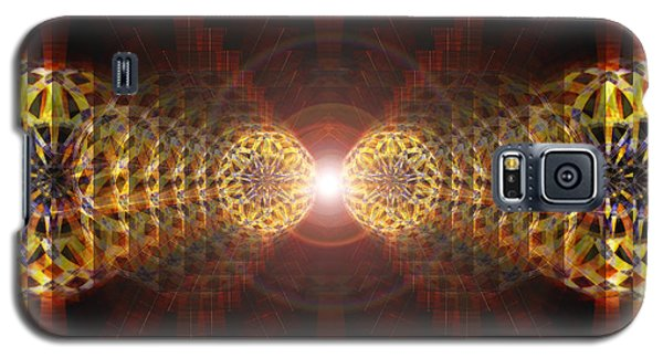 Galaxy S5 Case featuring the drawing Seven Sacred Steps Of Light by Derek Gedney