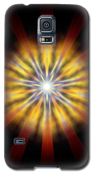Galaxy S5 Case featuring the drawing Seven Sistars Of Light by Derek Gedney