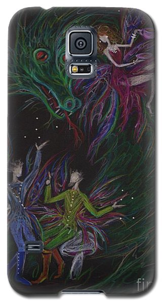 Galaxy S5 Case featuring the drawing Severely Amused by Dawn Fairies
