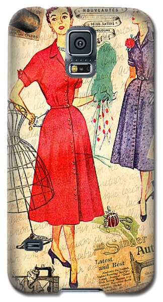 Galaxy S5 Case featuring the photograph Sewing by Elizabeth Budd