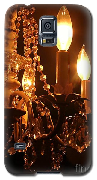 Galaxy S5 Case featuring the photograph Shabby Chandelier Bling 2 by Margaret Newcomb