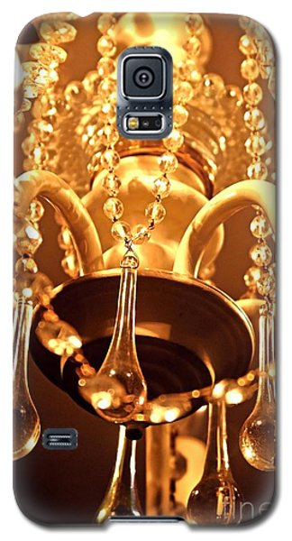 Galaxy S5 Case featuring the photograph Shabby Chandelier Bling by Margaret Newcomb