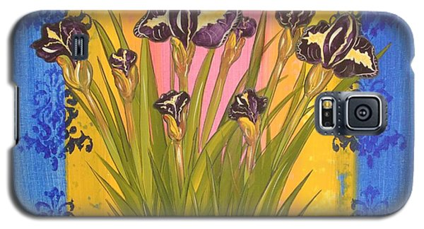 Galaxy S5 Case featuring the painting Shabby Chic Iris by Cindy Micklos