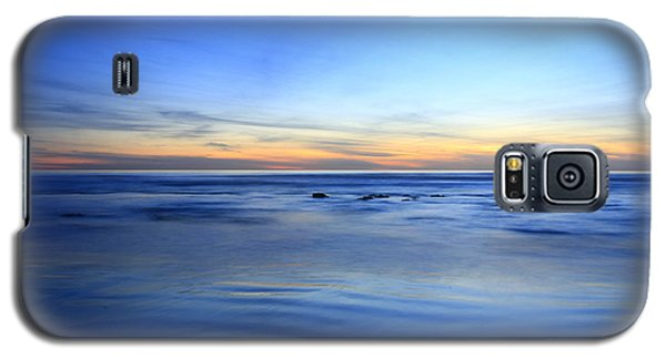 Galaxy S5 Case featuring the photograph Rocks In Surf Carlsbad by John F Tsumas