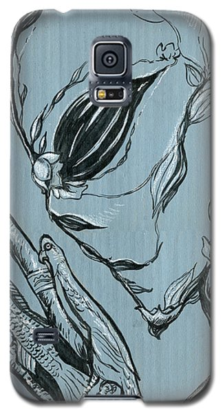 Galaxy S5 Case featuring the drawing Shades Of Grays Two by John Ashton Golden
