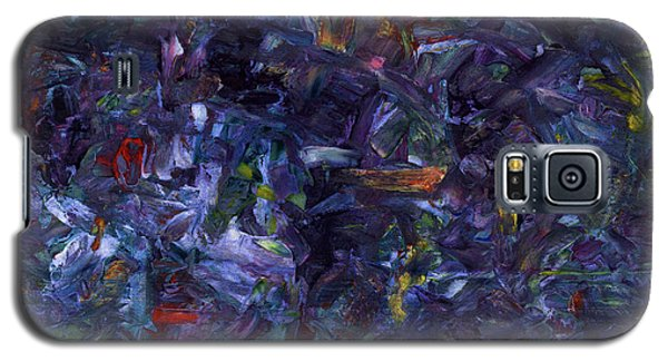 Galaxy S5 Case featuring the painting Shadow Blue Square by James W Johnson