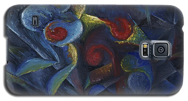 Galaxy S5 Case featuring the painting Shadowboxing by Tiffany Davis-Rustam