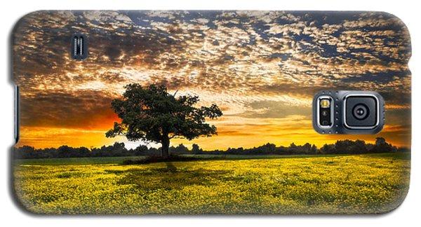 Shadows At Sunset Galaxy S5 Case by Debra and Dave Vanderlaan