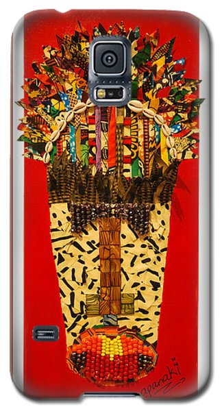 Galaxy S5 Case featuring the tapestry - textile Shaka Zulu by Apanaki Temitayo M