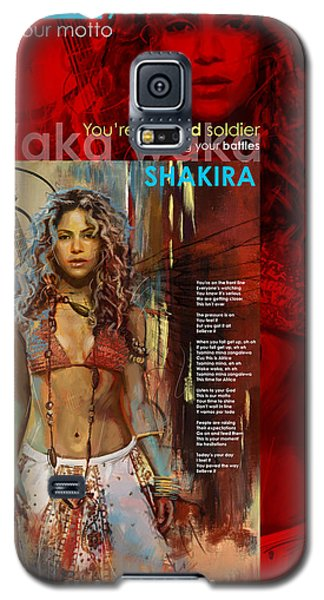 Shakira Art Poster Galaxy S5 Case by Corporate Art Task Force