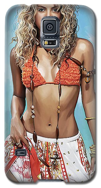 Galaxy S5 Case featuring the painting Shakira Artwork by Sheraz A