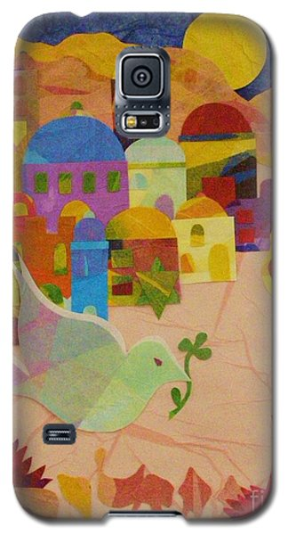 Galaxy S5 Case featuring the mixed media Shalom  by Diane Miller