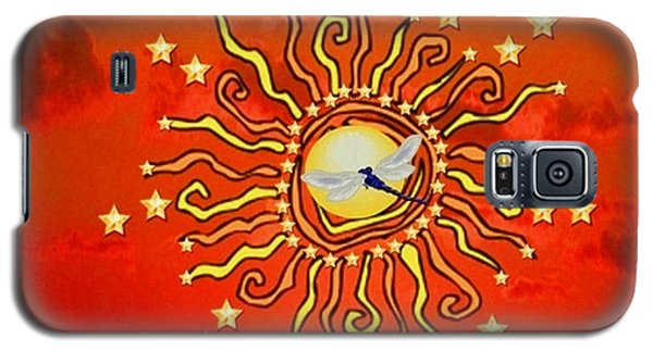 Galaxy S5 Case featuring the digital art Shaman Sun by Mary Anne Ritchie