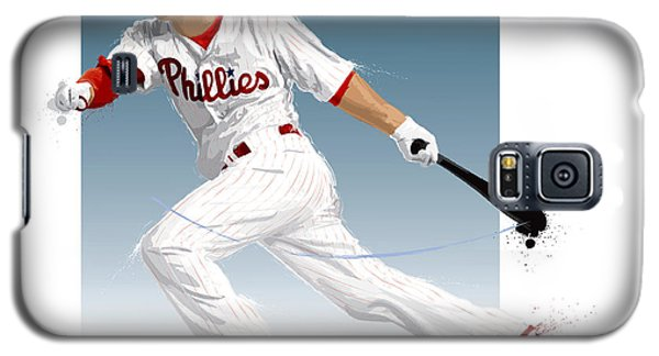 Galaxy S5 Case featuring the digital art Shane Victorino by Scott Weigner