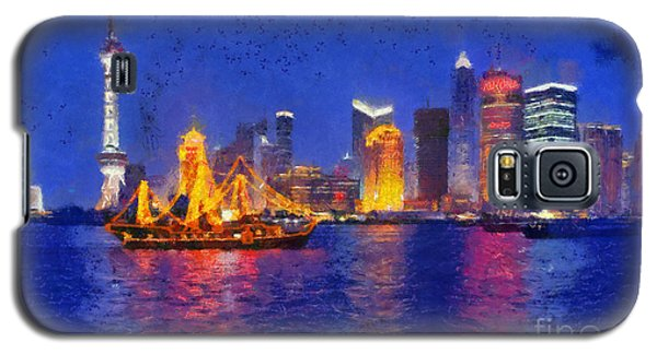 Shanghai During Dusk Time Galaxy S5 Case