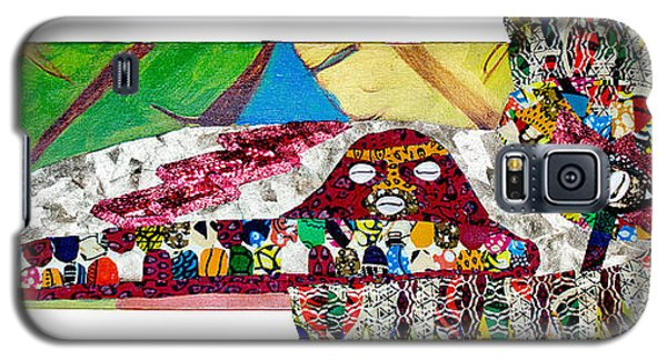 Galaxy S5 Case featuring the tapestry - textile Shango Firebird by Apanaki Temitayo M