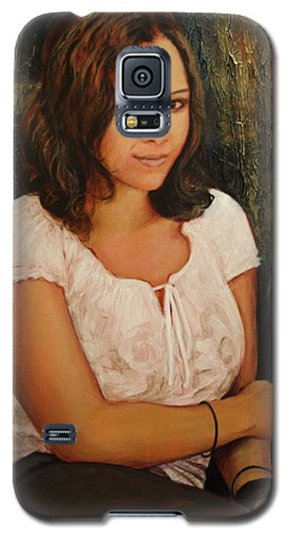 Galaxy S5 Case featuring the painting Shannon by Ron Richard Baviello