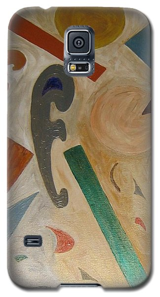 Galaxy S5 Case featuring the painting Shapes by Barbara Yearty