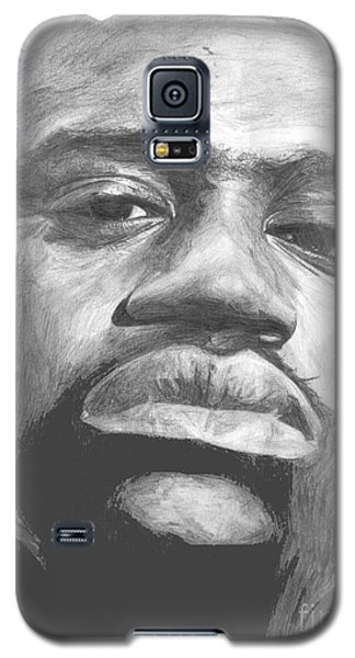 Galaxy S5 Case featuring the drawing Shaq by Tamir Barkan