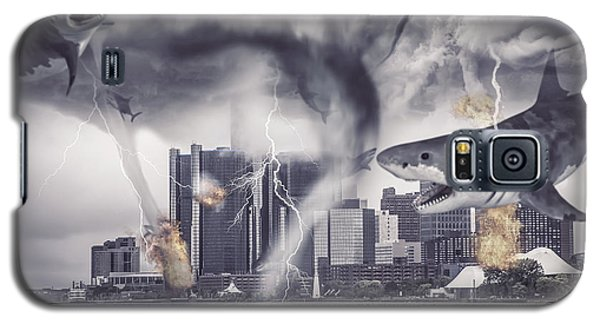 Galaxy S5 Case featuring the photograph Sharknado Detroit by Nicholas  Grunas